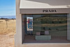 Looking in/looking out; Mary & me at Prada---Marfa, TX