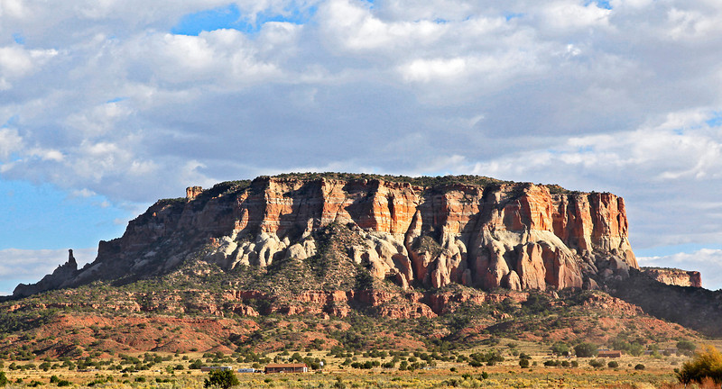 "On our drive east from Zuni to the ""Village of the Great Kivas"" we get this view of the north end of Corn Mesa."