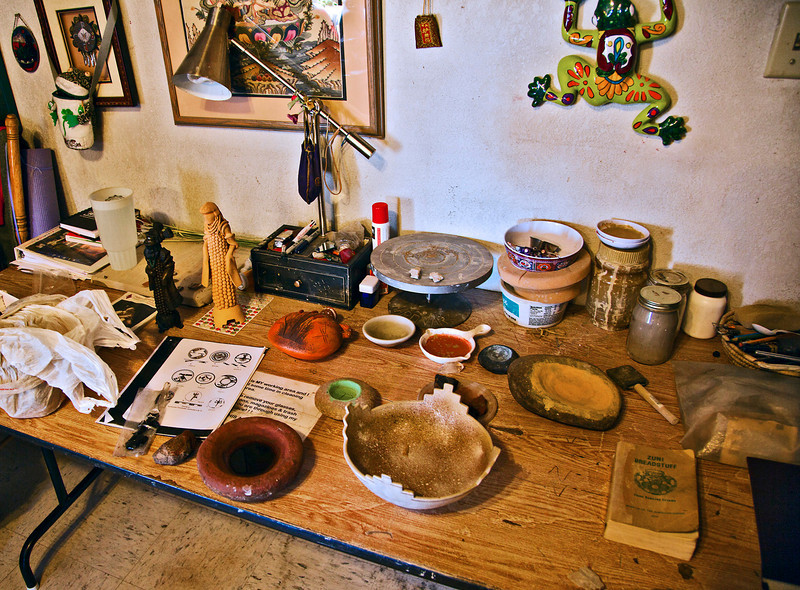 The Nahohai's workbench.