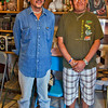 Traditional Zuni potters at home~Randy Nahohai (l) and Wilford Nahohai (r). They have been instrumental in teaching their pottery techniques around the world.