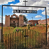 The Zuni Mission and cemetery.