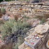Restored wall, and a few potsherds.