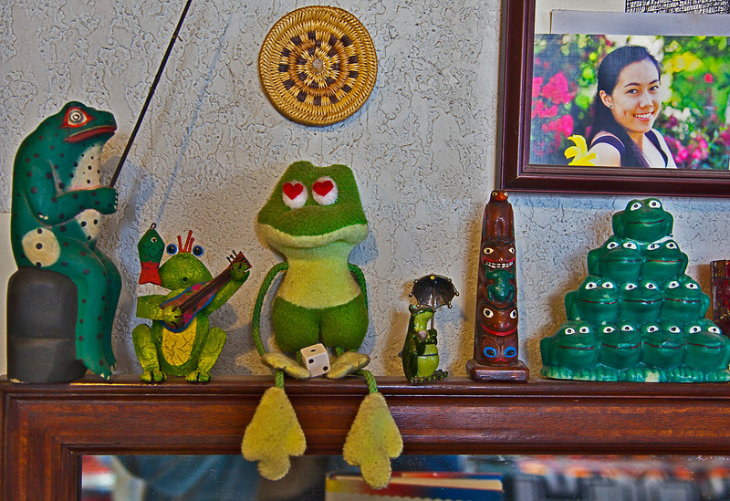 Numerous frogs were found in the Nahohai residence!
