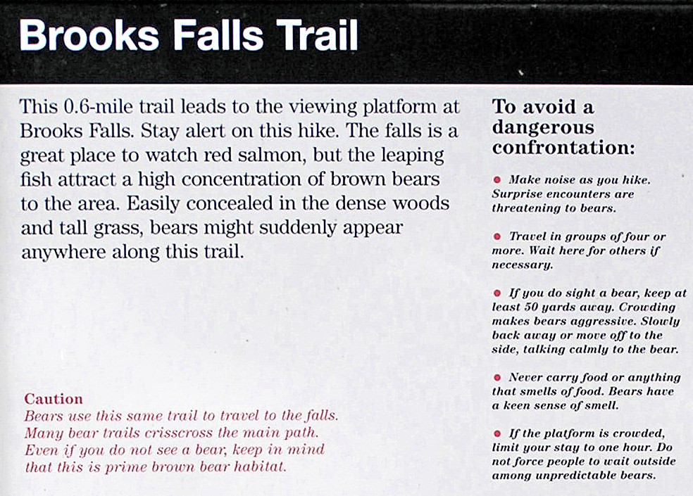 <br>Close up of Safety Poster at the Falls Trail-head.<br><br>(Click image to enlarge)