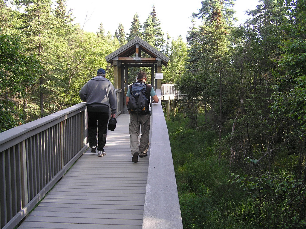 <br>¼ Mile From the Falls, You Ascend to an Elevated Walkway