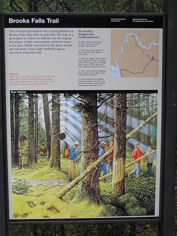 Safety Poster at the Falls Trail-head