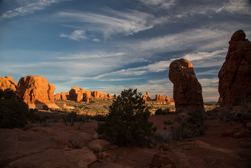 Sunset at Double arch