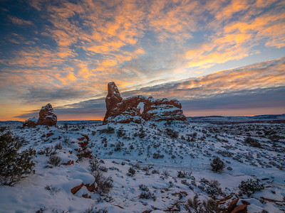 Winter Dusk Symphony: Arches National Park Fuji GFX100 Elliot McGucken Medium Format Fine Art Landscape Nature Photography