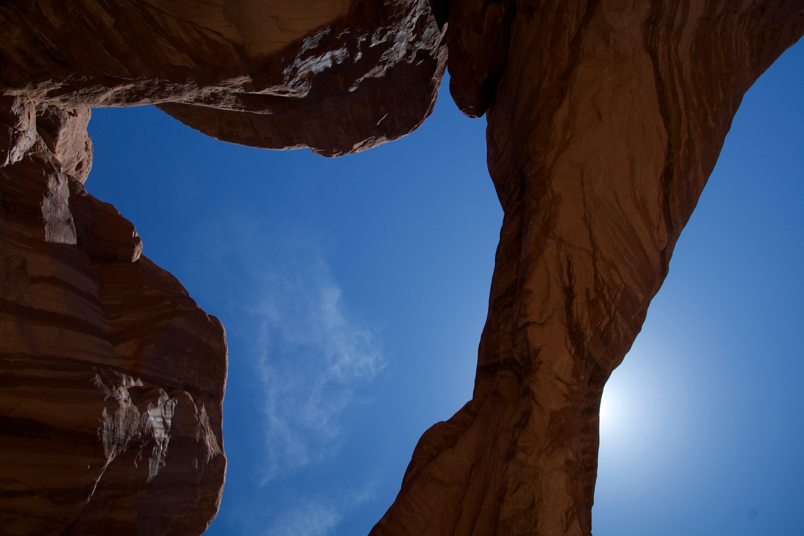 Intense Red Rock and Sky