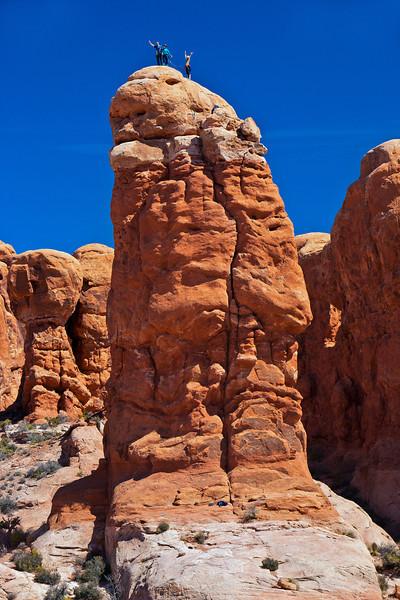 """Climbers on Owl Rock"""
