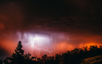 Lighting Strike at Sunset
