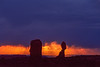 """Stormy Sunset and Balanced Rock"""