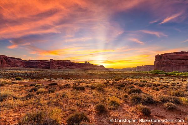 Sunset Arches Desert