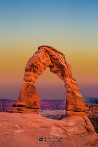 """Sunset Through Delicate Arch,"" Arches National Park, Utah"