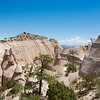 Beautiful mountain landscape. Kasha-Katuwe Tent Rocks National Monument, Close to of Santa Fe, New Mexico, USA
