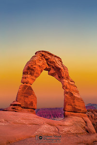 """Ancient Arch,"" Delicate Arch Sunset, Arches National Park, Utah"