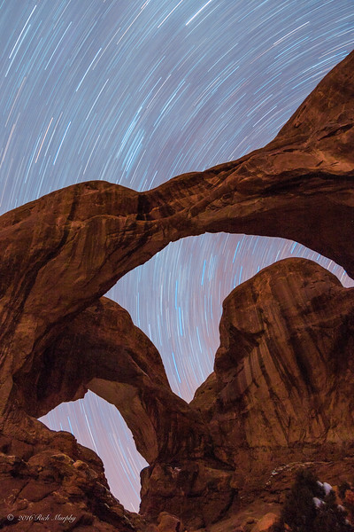 Star Trail Double Arch Arches National Park