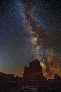 """Nighttime Surprise,"" The Milky Way over Arches National Park, Arches National Park, Utah"