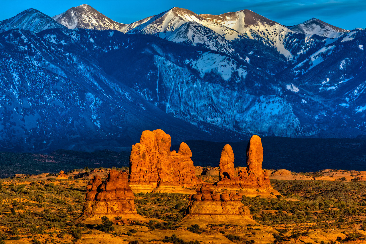 """""""Sandstone Formations and La Sal Mountains"""""""