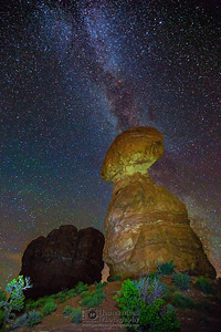 """Celestial Balance,"" The Milky Way over Balanced Rock, Arches National Park"