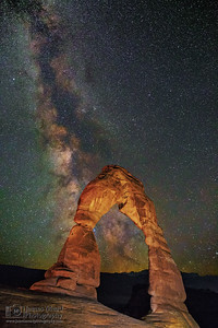 """Delicate Starlight,"" The Milky Way through Delicate Arch, Arches National Park, Utah"