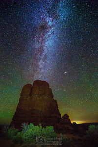 """Prayers from Above,"" the Milky Way above Arches National Park,  Arches National Park, Utah"