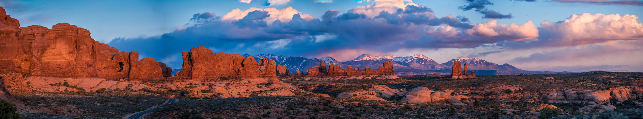 Turret Arch, Double Arch, Sunset Panorama