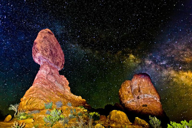 """Balanced Rock and Milky Way"""