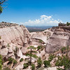 Beautiful mountain scenery. Kasha-Katuwe Tent Rocks National Monument, Close to of Santa Fe, New Mexico, USA