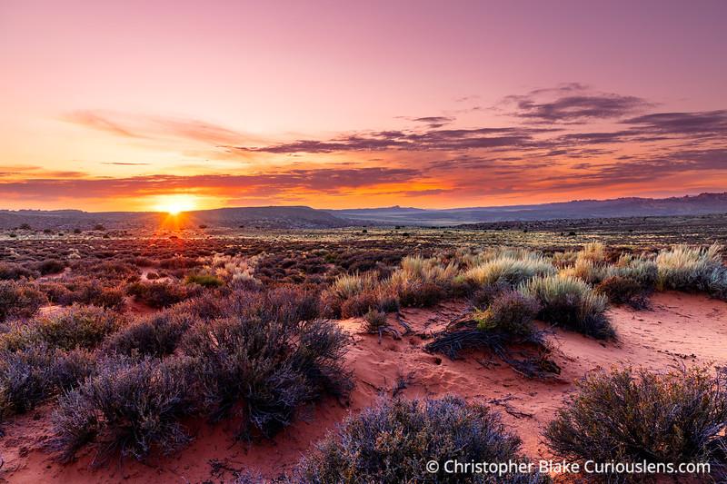 Sunset Colorado Plateau