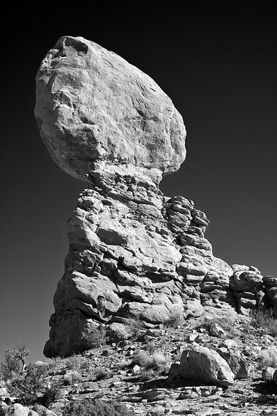 Balanced Rock BW