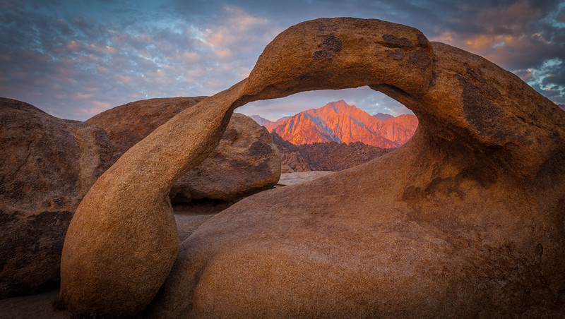 Mobius Arch at sunrise
