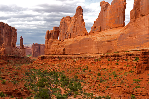 Park Avenue Trail, Arches National Park, Utah.