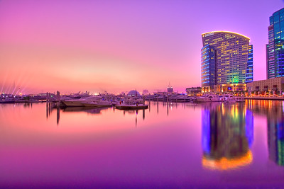 Twilight at Hotel Intercontinental View from Festival city - Dubai