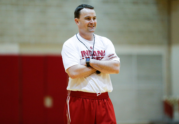 Archie smiles during the teams first workout. It as the first time the team had a chance to be coached by his new staff.