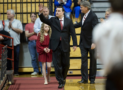 Archie Miller walks onto a full Assembly Hall court for the announcement of his new job as Head Coach of Indiana.