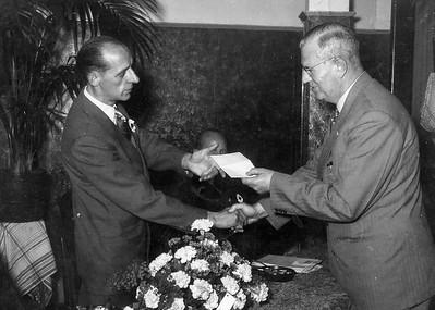 dambond Dordrecht 25 jarige bestaan 1954