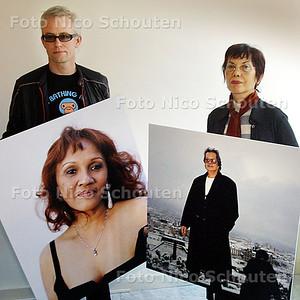 HC - INDOROCKFOTOGRAAF JEROEN SCHEFFER EN INGE DUMPEL - DEN HAAG 21 FEBRUARI 2003 - FOTO: NICO SCHOUTEN