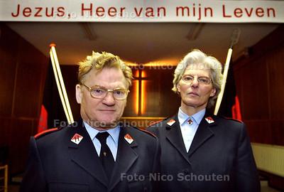 HC - LEGER DES HEILS - Hr. en Mevr. Bosman in de sluiten vestiging van het Leger des Heils op de Zuidwa - DEN HAAG 19 FEBRUARI 2003 - FOTO: NICO SCHOUTEN