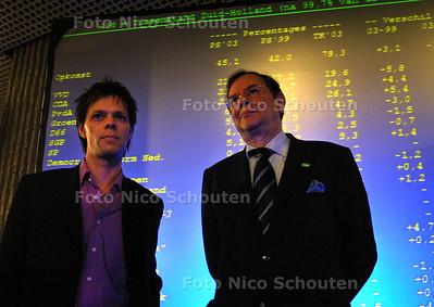 HC - PROVINCIALE VERKIEZINGEN - De winnaars links Marnix Norder (PvdA), rechts Klein Bretteler (CDA) - DEN HAAG 11 MAART 2003 - FOTO: NICO SCHOUTEN