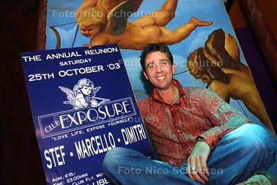 HC POP & PARTY - RENE MULDER, EXPOSURE REUNIE - SCHEVENINGEN 15 OKTOBER 2003 - FOTO: NICO SCHOUTEN