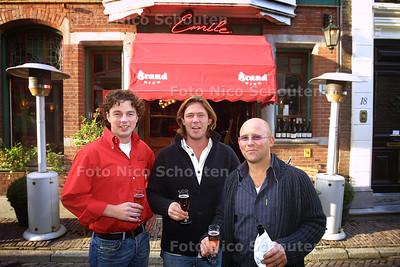 HC - HEROPENING EMILE - vlnr Marc Mondriaan, Robert Jan Canters en Tycho Plooyer - DEN HAAG 18 OKTOBER 2003 - FOTO: NICO SCHOUTEN