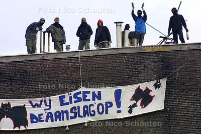 HC - ONTRUIMING BLAUWE AAMSLAG - DEN HAAG 3 OKTOBER 2003 - FOTO: NICO SCHOUTEN