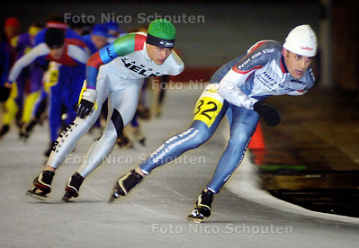 HC - SCHAATSMARATHON UITHOF - 2e van rechts zal winnaar worden - DEN HAAG 16 JANUARI 2003 - FOTO: NICO SCHOUTEN
