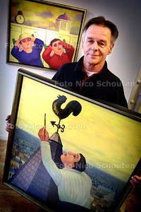 HC - KUNSTSCHILDER GEERT OVERVLIET - DEN HAAG 10 MAART 2004 - FOTO: NICO SCHOUTEN