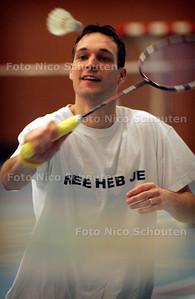 HC - DENNIS VAN DAALEN DE JEL, BADMINTON - DEN HAAG 3 FEBRUARI 2005 - FOTO NICO SCHOUTEN
