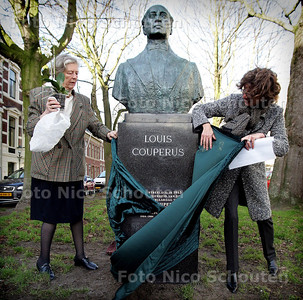 HC - ONTHULLING GERESTAUREERD BEELD LOUIS COUPERUS SURINAMESTRAAT - DEN HAAG 12 JANUARI 2005 - FOTO NICO SCHOUTEN