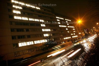 HC - 555  gironummer Samenwerkende Hulporganisaties (SHO) op oud HBG gebouw, Beatrixlaan - RIJSWIJK 4 JANUARI 2005 - FOTO NICO SCHOUTEN