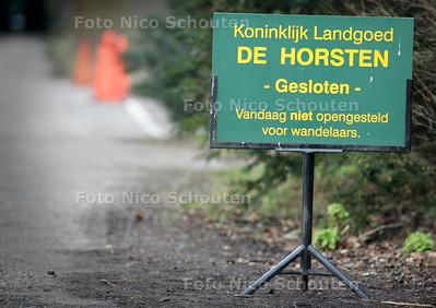 Landgoed de Horsten gesloten - WASSENAAR/VOORSCHOTEN 14 MAART 2005 - FOTO NICO SCHOUTEN