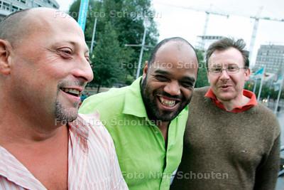 AD/HC - organisatoren van Pure Jazzfest: VLNR Ben van den Dungen, Eelco van Velzen, Michael Varekamp - DEN HAAG7 AUGUSTUS 2006 - FOTO NICO SCHOUTEN